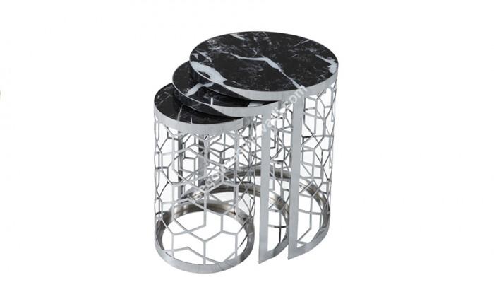 inegöl mobilya İnegöl 514 Gümüş Zigon Sehpa