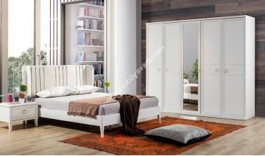 Angela Beyaz Yatak Odası Takımı