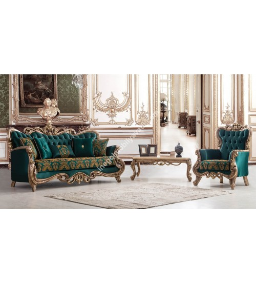 Emerald Klasik Koltuk Takımı 3+3+1+1+Sehpa