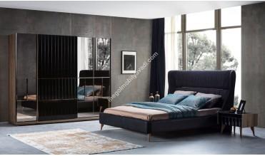Everest Siyah Modern Yatak Odası Takımı