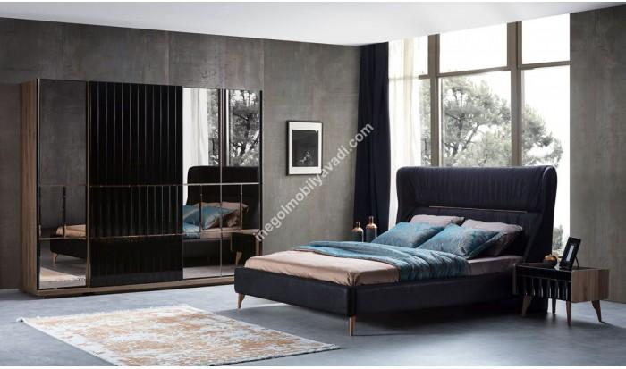 inegöl mobilya İnegöl Everest Siyah Modern Yatak Odası Takımı