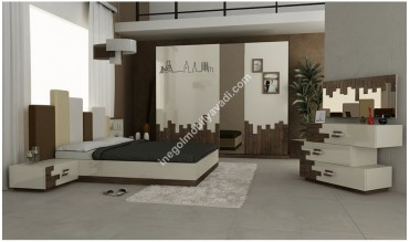 İstanbul Beyaz Yatak Odası Takımı