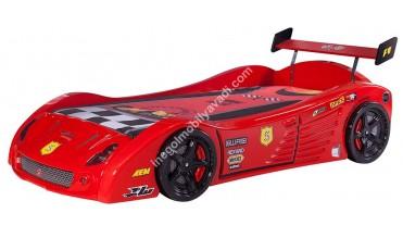Turbo V5 Kırmızı Araba Yatak