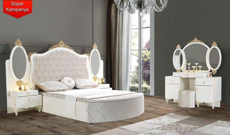 Inegol Oscar Beyaz Avangarde Yatak Odasi Takimi