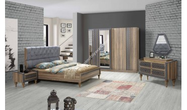 Mavi Modern Yatak Odası Takımı