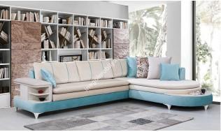 inegöl mobilya Form Mavi Köşe Koltuk Takımı