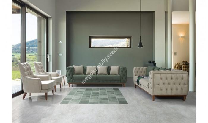 inegöl mobilya İnegöl imparator Yeşil Koltuk Takımı